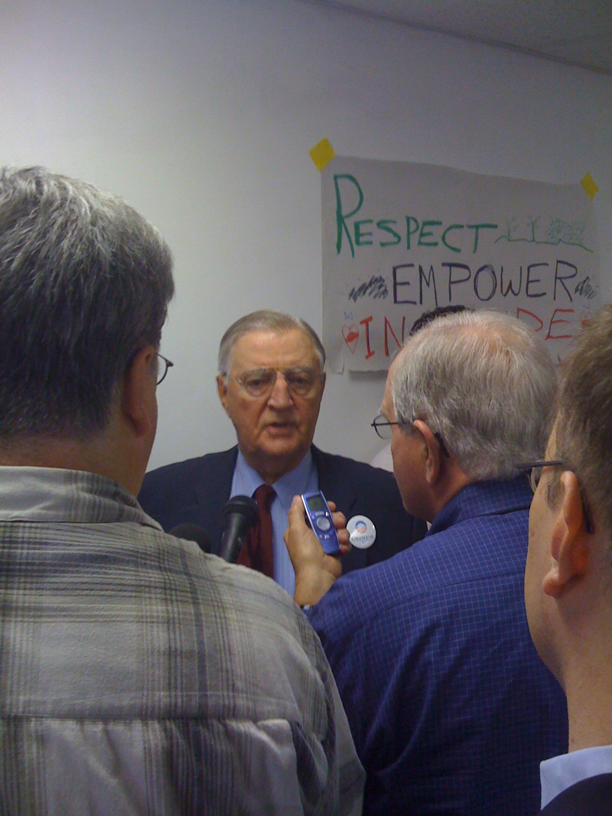 Mondale in St. Paul Campaign Office